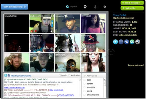 Tinychat.tv live streaming