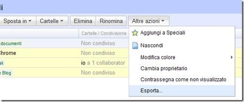 Esporta file Google Documenti