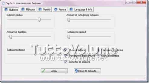 System Screensaver Tweacker