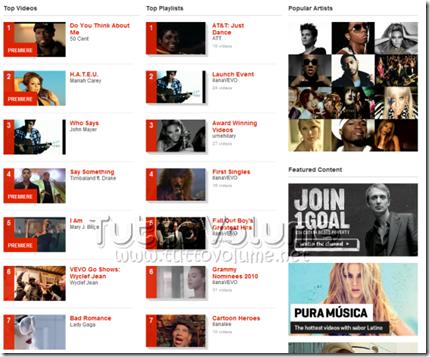 Vevo Homepage