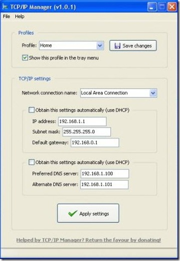 TCP-IP-Manager