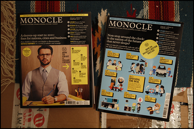 Monocle Magazines February and March 2011