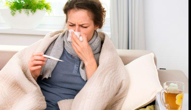 flu sick person