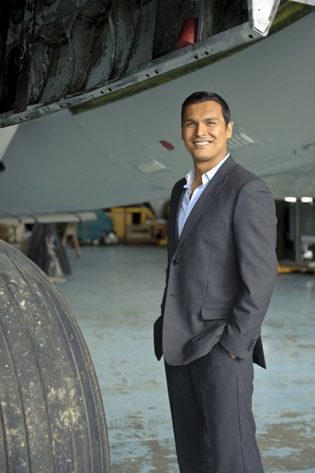 Adam Beach of Arctic Air Tuesdays at 9 pm (930 NT) on CBC TV - airport