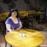 Covert Affairs - Me at Annies table at Allans Tavern (Copy)