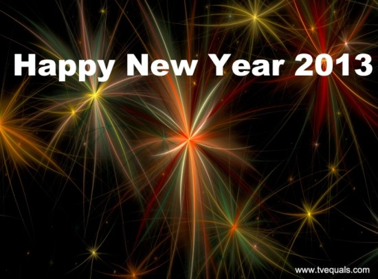 happy new year 2013 tve
