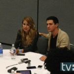 falling skies cast wondercon 2013 Drew Roy and Sarah Carter