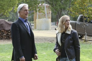 """""""Blood Brothers"""" -- Bishop returns home to Oklahoma for the Thanksgiving holiday, on NCIS, Tuesday, Nov. 24 (8:00-9:00 PM, ET/PT), on the CBS Television Network. Pictured left to right:   Mark Harmon and Emily Wickersham Photo: Patrick McElhenney/CBS ©2015 CBS Broadcasting, Inc. All Rights Reserved"""