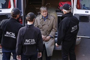 """""""Spinning Wheel"""" -- After Ducky is attacked by a man claiming to have information about his half-brother who died decades ago, the NCIS team searches for the perpetrator, as Ducky recalls the final emotional days he had with his sibling, on NCIS, Tuesday, Dec. 15 (8:00-9:00 PM, ET/PT), on the CBS Television Network. Pictured left to right: Brian Dietzen, Sean Murray, David McCallum and Mark Harmon Photo: Robert Voets/CBS ©2015 CBS Broadcasting, Inc. All Rights Reserved"""