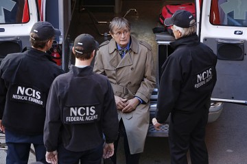 """Spinning Wheel"" -- After Ducky is attacked by a man claiming to have information about his half-brother who died decades ago, the NCIS team searches for the perpetrator, as Ducky recalls the final emotional days he had with his sibling, on NCIS, Tuesday, Dec. 15 (8:00-9:00 PM, ET/PT), on the CBS Television Network. Pictured left to right: Brian Dietzen, Sean Murray, David McCallum and Mark Harmon Photo: Robert Voets/CBS ©2015 CBS Broadcasting, Inc. All Rights Reserved"