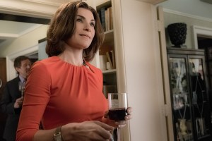 """Party"" -- Alicia's night goes from bad to worse when she throws a party to celebrate Howard and Jackie's upcoming wedding. Also, Eli asks Jason to investigate Peter in preparation for his trial, on THE GOOD WIFE, Sunday, April 24 (9:00-10:00 PM, ET/PT) on the CBS Television Network. Julianna Margulies as Alicia Florrick Photo: Jeff Neumann/CBS ©2016 CBS Broadcasting, Inc. All Rights Reserved"