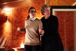 Picture shows: Ingrid Oliver as Osgood and Peter Capaldi as the Doctor