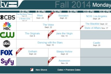 TV Schedules Fall 2014 Monday
