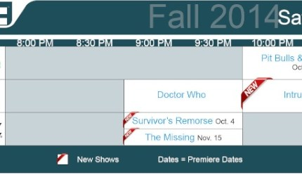 TV Schedules Fall 2014 Saturday