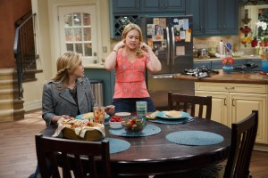 "MELISSA & JOEY - ""The Parent Trap"" - Mel invites her father over to talk to Joe's mom but is horrified when the two wind up ""together"" on an all-new episode of ""Melissa & Joey,"" airing Wednesday, July 1st (8:00PM ET/PT) on ABC Family. (ABC Family/Bruce Birmelin)