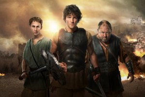 Picture shows: Pythagoras (ROBERT EMMS),  Jason (JACK DONNELLY) and Hercules (MARK ADDY)