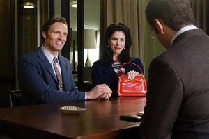 Teddy Sears as Dr. Austin Langham and Sarah Silverman as Helen in Masters of Sex (season 3, episode 8) - Photo: Michael Desmond/SHOWTIME Photo ID: MastersofSex_308_0768