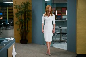 "SUITS -- ""Faith"" Episode 510 -- Pictured: Sarah Rafferty as Donna Paulsen -- (Photo by: Shane Mahood/USA Network)"