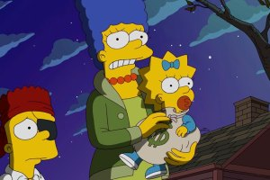 "THE SIMPSONS: Marge takes Bart and Maggie trick or treating in the all-new ""Halloween of Horror"" episode of THE SIMPSONS airing Sunday, Oct. 18 (8:00-8:30 PM ET/PT) on FOX.  THE SIMPSONS ™ and © 2015 TCFFC ALL RIGHTS RESERVED. CR: FOX"