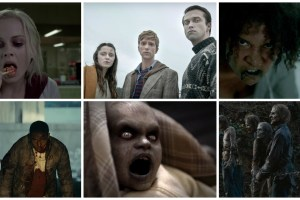 collage - ZNation, iZombie, The Walking Dead, Fear the Walking Dead, Helix, In the Flesh
