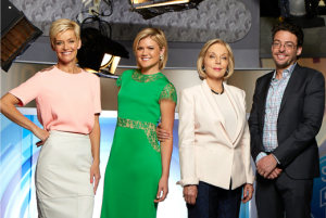 L To R Jessica Rowe, Sarah Harris, Ita Buttrose and Joe Hildebrand from Studio 10