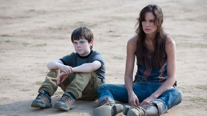 Carl Grimes (Chandler Riggs) and Lori Grimes (Sarah Wayne Callies) - The Walking Dead - Season 2, Episode 8 - Photo Credit: Gene Page/AMC
