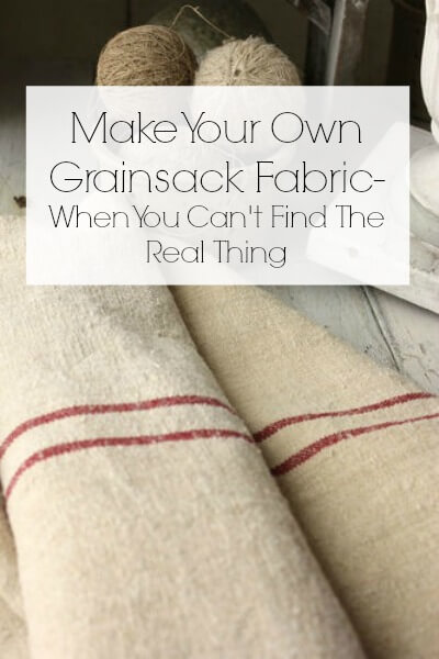 Make Your Own Grainsack Fabric- When You Can't Get Your Hands On The Real Stuff