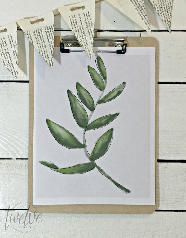 Free Watercolor Botanical Printables | Twelveonmain.com