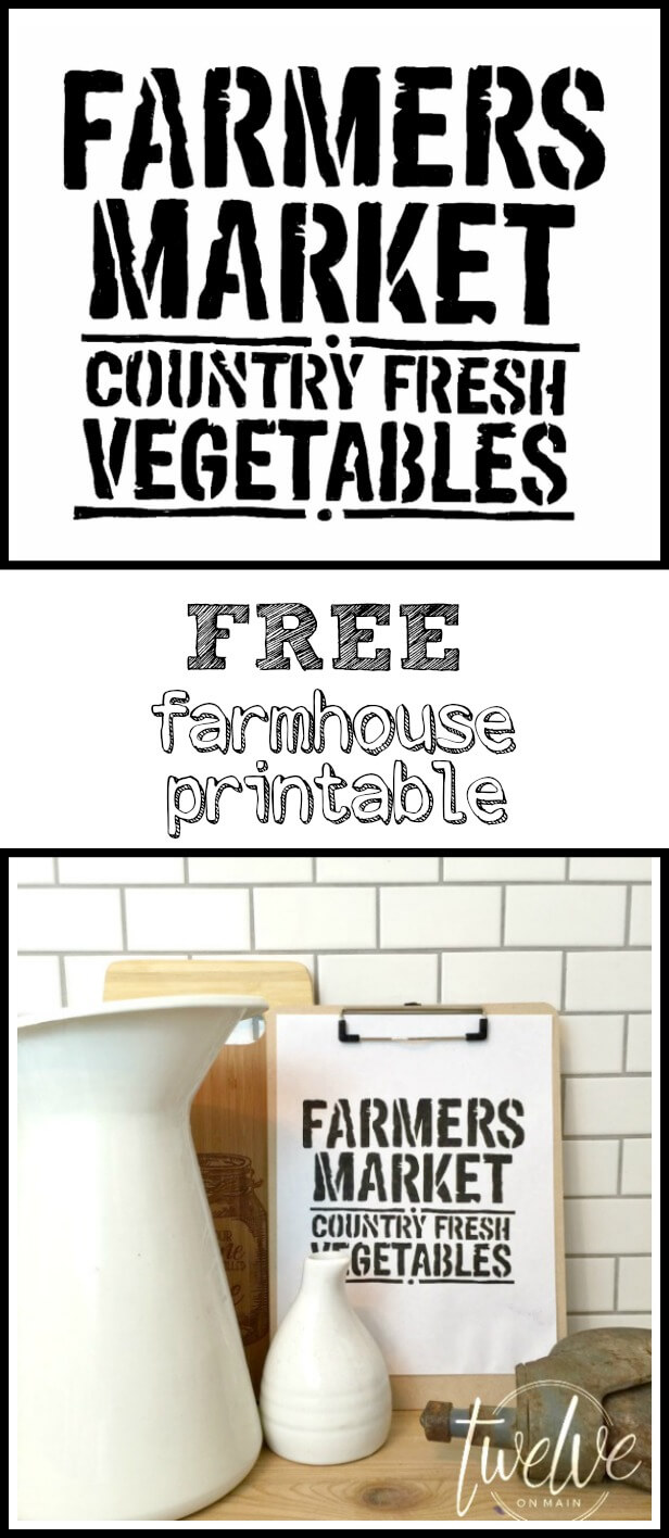 It's just a photo of Adorable Farmhouse Free Printables