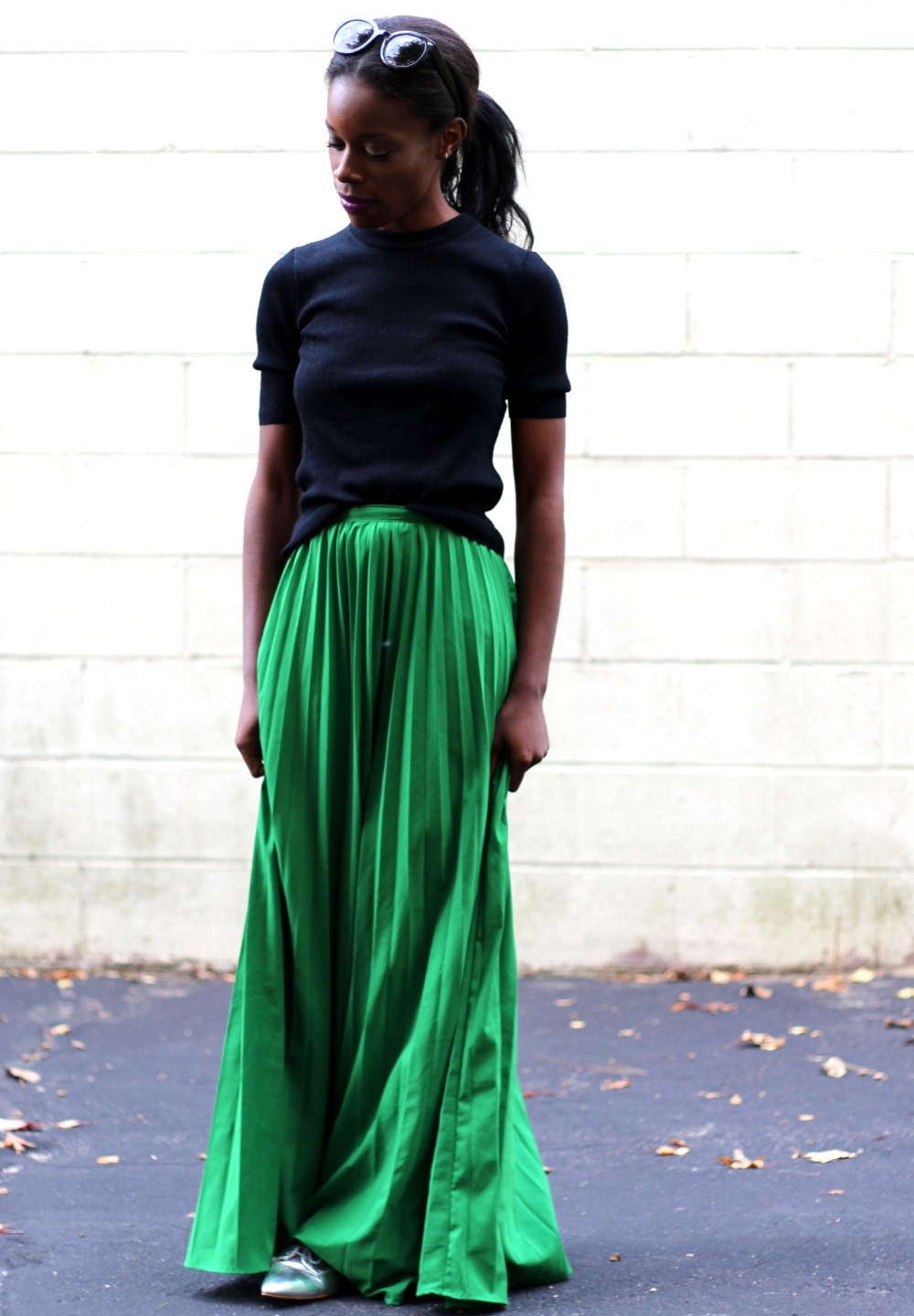Black Sweater and Skirt