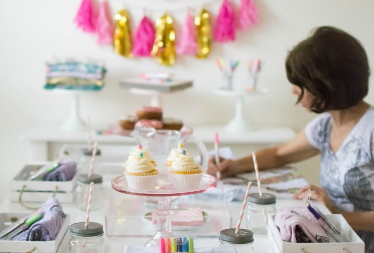 Host a Girls Coloring Party with Colorwear