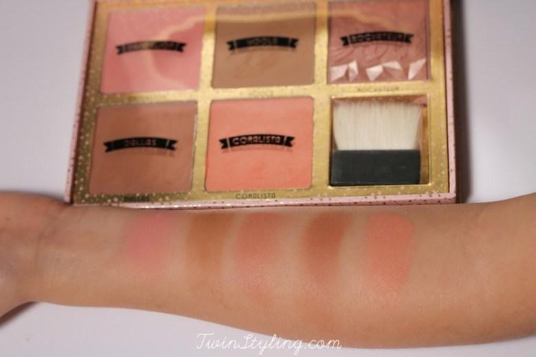 cheekathon palette blush benefit hoola coralista dandelion rokateur dallas swatches