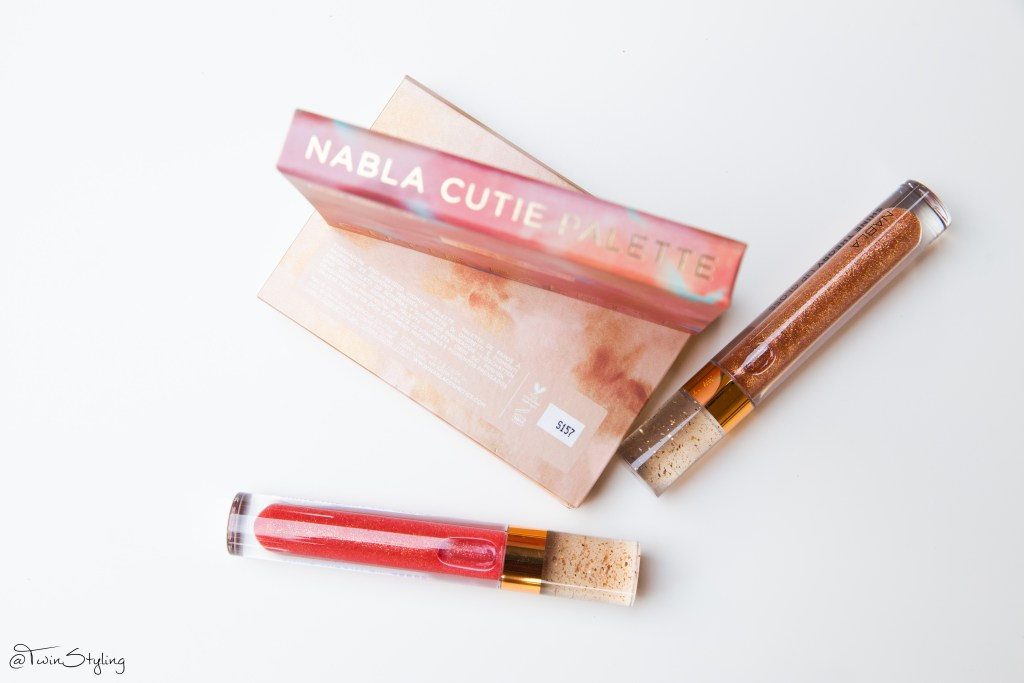 Cutie Palette Denude Collection - Nabla cosmetics. shine theory lip gloss 3d reflex
