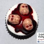 Demon Baby Head Cupcakes