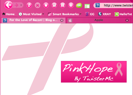 PinkHope Firefox Theme Preview