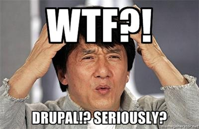 Said to the sales person who suggested Drupal.
