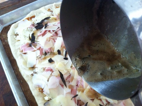 pizza 8 - adding sage butter