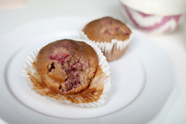 Strawberry rosewater muffins last   Two Delighted