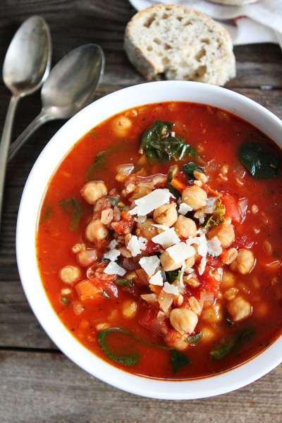Chickpea Farro Soup Recipe