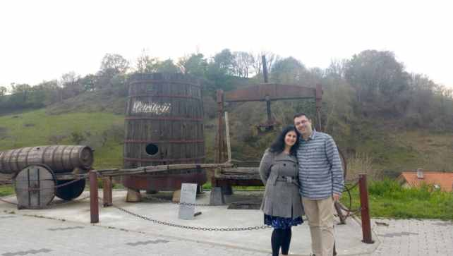 Anisa and Russell outside the Petritegi Cider House.