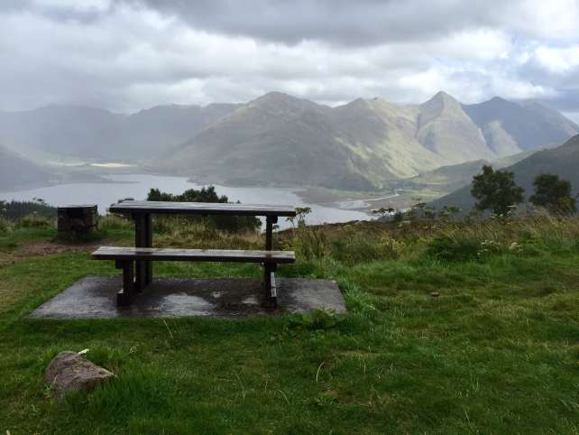 """We spotted this picture perfect picnic place on our way back. - """"The Journey Over the Sea to Skye"""" - Two Traveling Texans"""