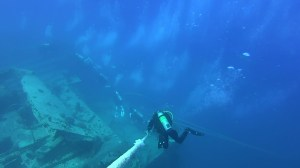Line descent to Thistlegorm wreck, Ras Mohammed National Park