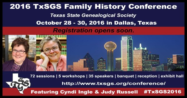 TxSGS Conference Registration Opens Soon