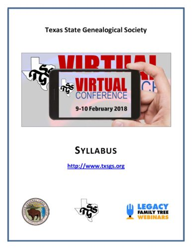 Virtual Conference Syllabus