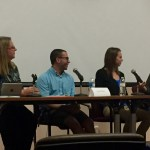 Panel (from left to right) Cindy Royal, Josue Plaza, Ashley Hebler, Glynn Jordan