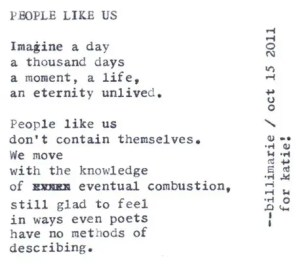 """""""Imagine a day a thousand days a moment a life unlived"""""""