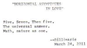"""""""Horizontal Asymptotes In Love"""" by billimarie (typewriter poetry)"""