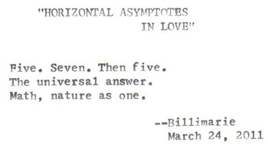 """HORIZONTAL ASYMPTOTES IN LOVE"""
