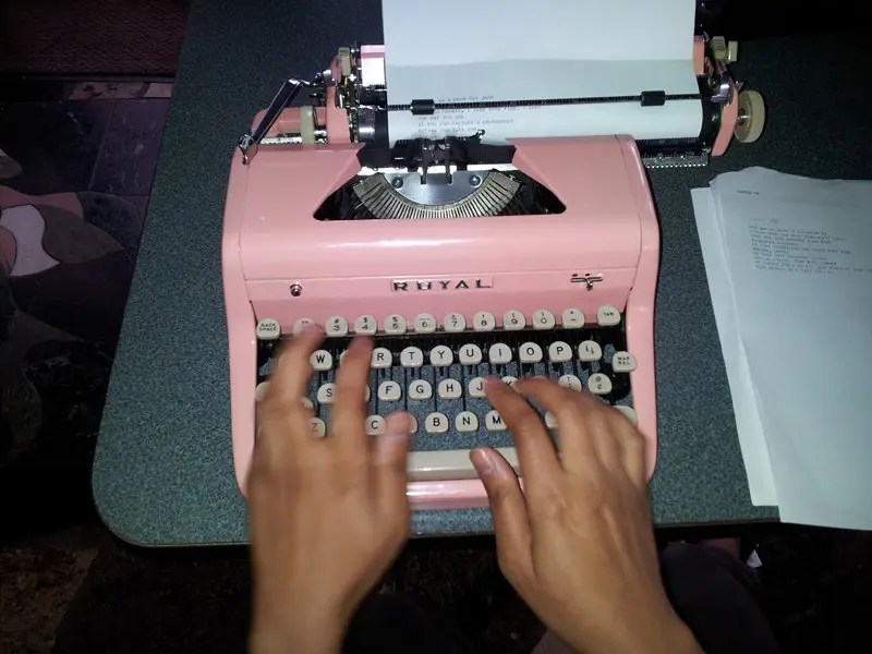 """""""Type Right In Pink (Part 1)"""" by John for billimarie typewriter poetry"""