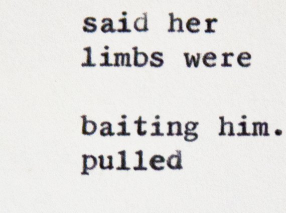 """Etsy typewriter poetry poem on wooden card stock background. """"Adam"""" by billimarie, on sale at the Typewriter Poetry Etsy shop. Extreme close up, in color."""